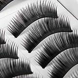 10 Paare: Natürliche Handgemachte Weiche Künstliche Wimpern / Falsche Wimpern Set von Boolavard® (B004)
