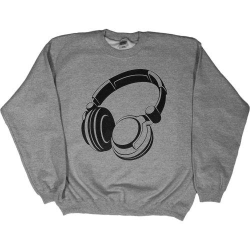 Mens Sweatshirt : Kelly - Large - Headphones - Retro Goth Punk Emo