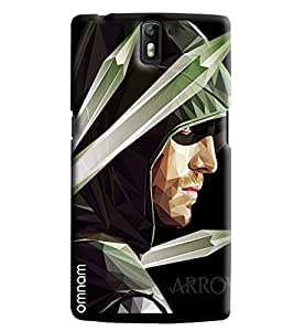 Omanm Arrow Man Giving Pose Printed Designer Back Cover Case For One Plus One
