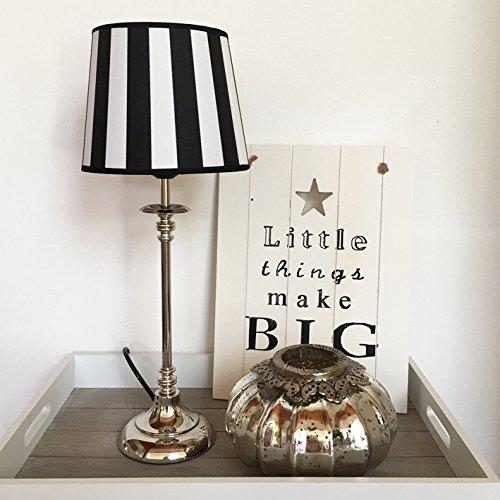 Tischlampe-STRIPES-schwarz-wei-Tischleuchte-Shabby-Vintage-Nostalgie-Landhaus