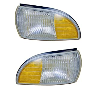 1991-1996 Chevrolet/Chevy Caprice, Impala & Buick Roadmaster Station Wagon & 1991-1992 Oldsmobile/Olds Custom Cruiser Corner Park Light Turn Signal Marker (Without Cornering Lamp) Pair Set Left Driver AND Right Passenger Side (1991 91 1992 92 1993 93 1994 94 1995 95 1996 96)