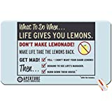 Entertainment portal humor funny aperture laboratories portal 2 cave johnson life lemons wallpaper big mouse pad computer mousepad Dimensions: 23.6 x 13.8 x 0.2