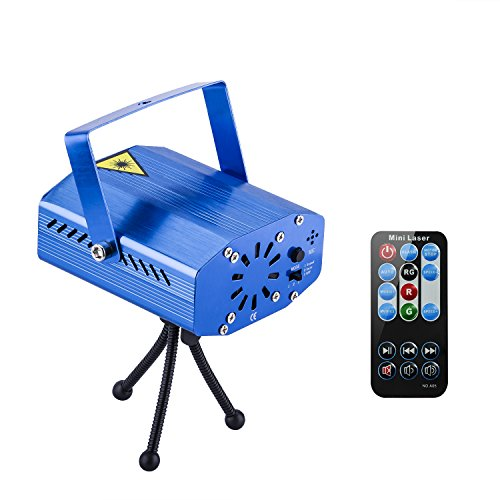 Spriak Projector Strobe 7 Modes Sound Actived Auto Flash Rgb Led Disco Party Dj Stage Lights With Remote Control (Blue)
