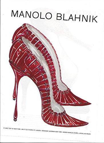 magazine-print-ad-for-manolo-blahnik-2007-illustrated-red-green-shoe-print-ad