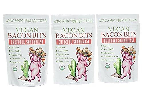 Vegan Bacon Bits [Chipotle Southwest] - USDA Organic - Crunchy plant based