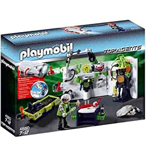 Amazon.com: Robo-Gangster Lab - Playmobil Top Agents: Toys & Games