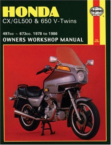 Honda CX/GL500 and 650 V-Twins 1978-86 Owner's Workshop Manual (Motorcycle Manuals)