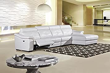 3pc Modern Electric Recliner Sectional Leather Sofa Set - AM-L385-SW
