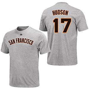 Tim Hudson San Francisco Giants Grey Player T-Shirt by Majestic by Majestic