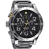 Nixon 48-20 Chrono Black Dial Stainless Steel Men's Watch A486-000