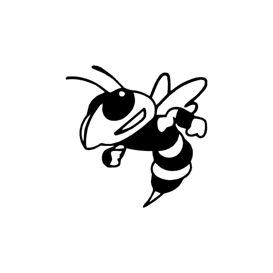 Mean Bee   Mean Hornet   Vinyl Decal Sticker 6 YELLOW