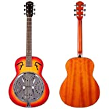 Fender Folk Instruments 955000032 Resonator Guitar, Sunburst, Round Mahogany Neck
