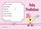 Baby Shower Game - Prediction Cards Pink Polka [10]