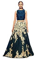 Astha bridal women designer banglory silk lehenga(m.m blue lehenga-1_blue_42)