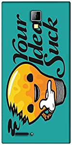 Snoogg Your Ideas Suck Funny Designer Protective Back Case Cover For Micromax Canvas Express A99