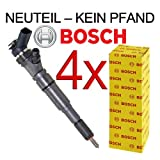4x ORIGINAL BOSCH Injector set with gasket / seal BMW 3 SERIES E46 320 D CD TD 09.2001 ONWARDS;