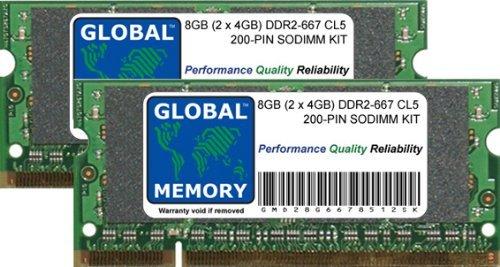 8GB (2 x 4GB) DDR2 667MHz PC2-5300 200-PIN SODIMM ARBEITSSPEICHER RAM KIT FÜR NOTEBOOKS