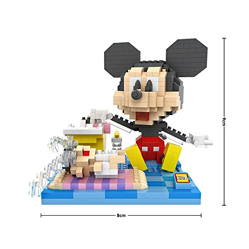 Funny Disney Family - Babysitting Mikey - LOZ NanoBlocks Micro Diamond DIY Educational Toys