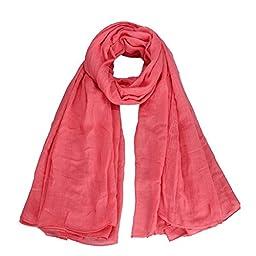 BD Women Girl Long Cotton Scarf Scarves Wraps Shawl Blanket Neckerchief Pink