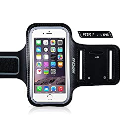 New Version MPOW Running Sporty Sweatproof Armband Case + Key Holder for iPhone 6 (4.7'), with Adjustable Length...