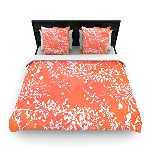 Coral Duvet Cover Queen front-1037922