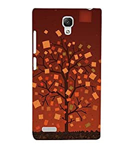 Designed tree Back Case Cover for Xiaomi Redmi Note::Xiaomi Redmi Note 4G