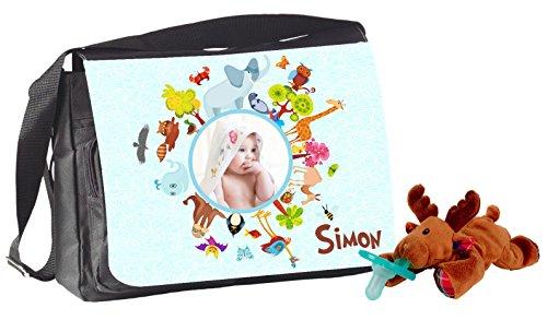 Set: modello a Spirale borsa e WubbaNub ciuccio con Baby le proprie foto modello a Spirale Custodia elegante con linguetta