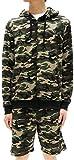 (マルカワジーンズパワージーンズバリュー) Marukawa JEANS POWER JEANS VALUE スウェット 上下セット セットアップ メンズ パーカー ショートパンツ ハーフパンツ 迷彩 3color