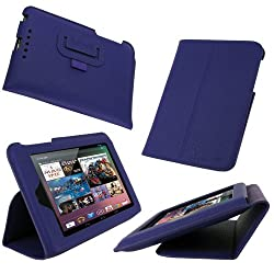 rooCASE Ultra-Slim (Purple) Vegan Leather Folio Case for Google Nexus 7 Tablet (Built-in sleep / wake feature)...
