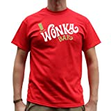 Nutees Wonka Bar Willy Wonka Retro Mens T Shirt - Red