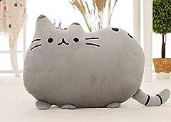 可愛すぎる 猫 クッション ふわふわやわらか 癒し 抱き枕にもなります オフィス 勉強 机 インテリア としても (グレー)