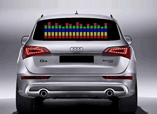 Enem Sound Music Beat Activated Car LED Equalizer Window Sticker Strip for family car (70 cm * 16 cm)