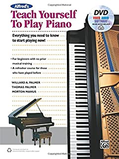 Book Cover: Alfred's Teach Yourself to Play Piano: Everything You Need to Know to Start Playing Now!, Book, DVD & Online Audio, Video & Software