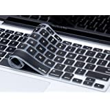 "Kuzy - BLACK Keyboard Cover Silicone Skin for MacBook Pro 13"" 15"" 17"" (with or w/out Retina Display) iMac and MacBook Air 13"" - Black"