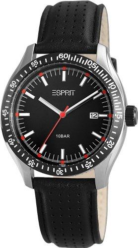 Esprit A.ES102871002 - Reloj analógico de cuarzo para hombre con correa de piel, color negro
