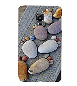 PrintVisa Cute Beach Stone Art Design 3D Hard Polycarbonate Designer Back Case Cover for Samsung Galaxy Note Edge