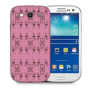 Snoogg Abstract Cream Pink Pattern Printed Protective Phone Back Case Cover For Samsung S3 / S III