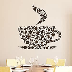 Cup Of Coffee Wall Decal Cafe Dining Vinyl Stickers Murals Modern Interior Ki
