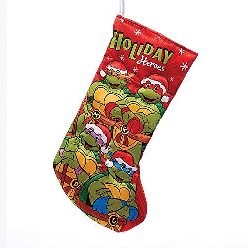 Kurt Adler Retro Teenage Mutant Ninja Turtles Holiday Heroes Applique Stocking (Ninja Turtle Stocking compare prices)