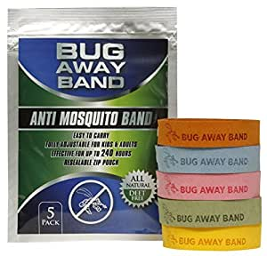Bug Away Band All Natural Mosquito Repellent Deet Free Bands 5 Pack Patio