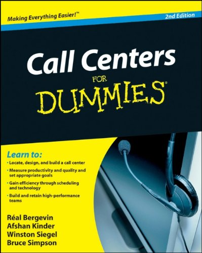 Call Centers For Dummies (For Dummies (Lifestyles Paperback))
