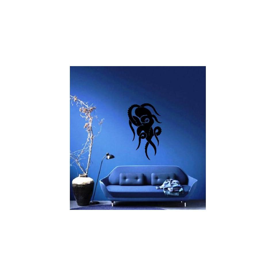 Octopus Swirls Abstract Silhouette Ocean Marine Sea Decor Wall Mural Vinyl Art Decal Sticker M492