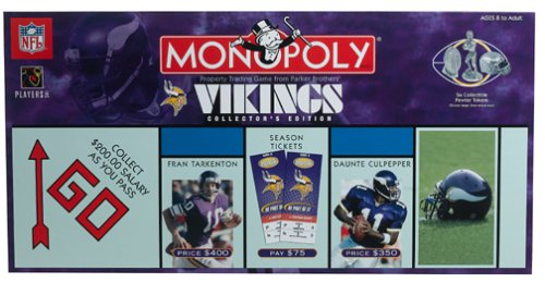 Buy Minnesota Vikings Monopoly