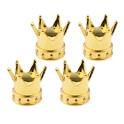 4X Gold Royal Crown Car UTV SUV MPV Truck Wheel