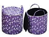 Super India PVC zipper storage cum laundry basket 50