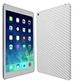 Skinomi® TechSkin - Apple iPad Air Wi-Fi + LTE (5th Generation) Screen Protector Ultra Clear Shield + Silver Carbon Fiber Full Body Protective Skin + Lifetime Warranty