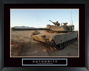 (22x28) Authority Tank Motivational Poster Print