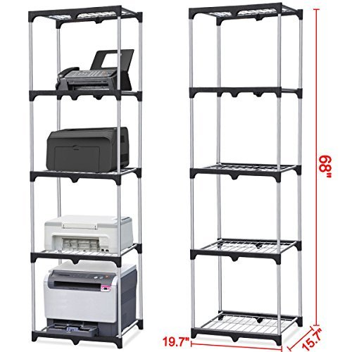 Home Kitchen Office Garage 5-Shelf Storage Rack Wire Shelving Unit Metal Closet (Wow Trash Truck compare prices)
