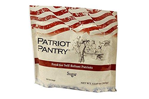 Patriot Pantry Emergency Survival Sugar Pack (90 Servings), White