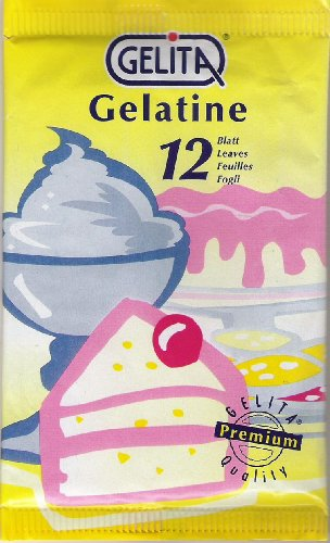 Gelita 12 Blatt Gelantine wei&#223; 20 Gramm Blattgelantine (20 Gramm = 1kg = 39,50 ?)